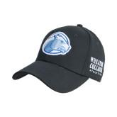 College Black Heavyweight Twill Pro Style Hat-Lyon Head