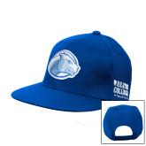 College Royal Flat Bill Snapback Hat-Lyon Head