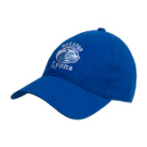 College Royal Twill Unstructured Low Profile Hat-Wheaton Lyons - Official Logo