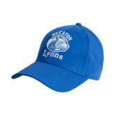 College Royal Heavyweight Twill Pro Style Hat-Wheaton Lyons - Official Logo