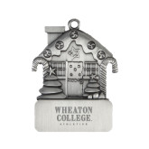 Pewter House Ornament-Wheaton College Athletics Engraved