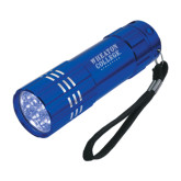 Industrial Triple LED Blue Flashlight-Wheaton College Athletics Engraved
