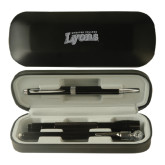 Black Roadster Gift Set-Wheaton College Lyons Wordmark Engraved