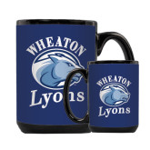 Full Color Black Mug 15oz-Wheaton Lyons - Official Logo