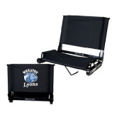 Stadium Chair Black-Wheaton Lyons - Official Logo
