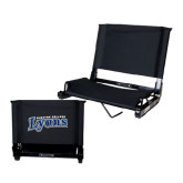 Stadium Chair Black-Wheaton College Lyons Wordmark