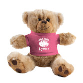 Plush Big Paw 8 1/2 inch Brown Bear w/Pink Shirt-Wheaton Lyons - Official Logo