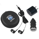 3 in 1 Black Audio Travel Kit-Wheaton Lyons - Official Logo