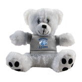 Plush Big Paw 8 1/2 inch White Bear w/Grey Shirt-Wheaton Lyons - Official Logo