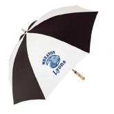 62 Inch Black/White Umbrella-Wheaton Lyons - Official Logo