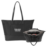 Stella Black Computer Tote-Wheaton College Athletics