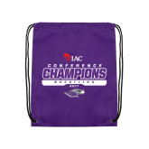 Purple Drawstring Backpack-2017 WIAC Champions Wrestling