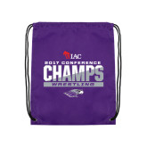 Purple Drawstring Backpack-2017 WIAC Conference Champs Wrestling
