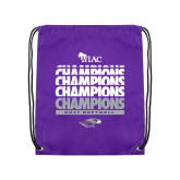 Purple Drawstring Backpack-WIAC Softball Champions