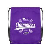 Purple Drawstring Backpack-WIAC Baseball Champions