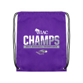 Purple Drawstring Backpack-WIAC Baseball Champions