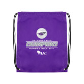 Purple Drawstring Backpack-WIAC 2017 Womens Golf Champions