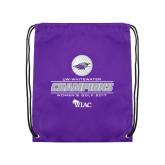 Purple Drawstring Backpack-WIAC 2017 Womens Golf Champions