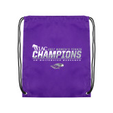 Purple Drawstring Backpack-WIAC 2017 Womens Tennis Champions