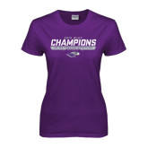 Ladies Purple T Shirt-2016 WIAC Champions Wrestling