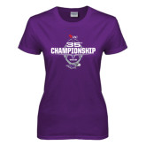 Ladies Purple T Shirt-35th WIAC Championship - Football 2016