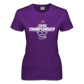Ladies Purple T Shirt-35th WIAC Championship - Football 2016