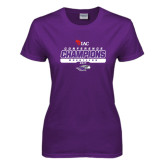 Ladies Purple T Shirt-2017 WIAC Champions Wrestling