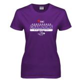 Ladies Purple T Shirt-2017 WIAC Champions Wrestling