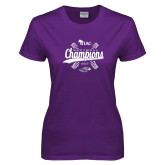 Ladies Purple T Shirt-WIAC Softball Champions