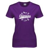 Ladies Purple T Shirt-WIAC Softball Champions