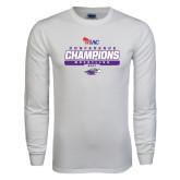 White Long Sleeve T Shirt-2017 WIAC Champions Wrestling