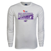 White Long Sleeve T Shirt-2017 WIAC Conference Champs Wrestling