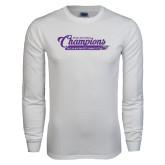 White Long Sleeve T Shirt-2017 NCGA National Champions Gymnastics