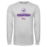 White Long Sleeve T Shirt-WIAC 2017 Womens Golf Champions