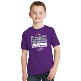 Youth Purple T Shirt-Tenth Straight WIAC Champions - Womens Tennis 2016