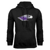 Black Fleece Hoodie-Warhawk Head