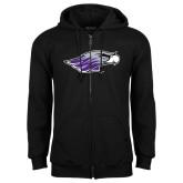 Black Fleece Full Zip Hoodie-Warhawk Head