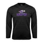 Syntrel Performance Black Longsleeve Shirt-UW-W w/Warhawk Head
