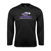 Performance Black Longsleeve Shirt-Basketball