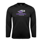 Performance Black Longsleeve Shirt-Tennis