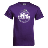 Purple T Shirt-25th Straight NCAA Tournament Appearance - Womens Volleyball 2016
