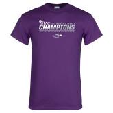 Purple T Shirt-WIAC 2017 Womens Tennis Champions