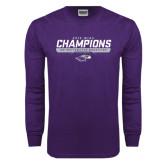 Purple Long Sleeve T Shirt-2016 WIAC Champions Wrestling