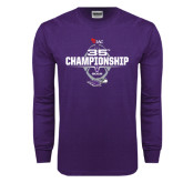 Purple Long Sleeve T Shirt-35th WIAC Championship - Football 2016
