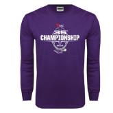 Purple Long Sleeve T Shirt-35th WIAC Championship - Football 2016