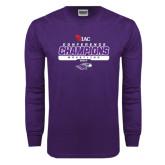 Purple Long Sleeve T Shirt-2017 WIAC Champions Wrestling