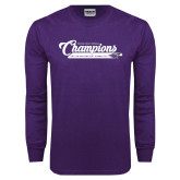 Purple Long Sleeve T Shirt-2017 NCGA National Champions Gymnastics
