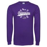 Purple Long Sleeve T Shirt-WIAC Softball Champions