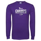 Purple Long Sleeve T Shirt-WIAC Baseball Champions
