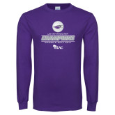 Purple Long Sleeve T Shirt-WIAC 2017 Womens Golf Champions
